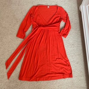 Anthropologie Ric Rac red faux wrap dress small